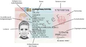 tarjeta electrónica permiso de residencia Alemania